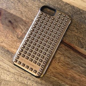 Rebecca Minkoff Gold Studded Hard iPhone 6/6s Case